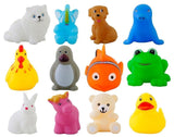 Graphitos Soft Bath Toy for Baby Kids Bath Toys Chu Chu Toys - Set of 12 Multi-Color