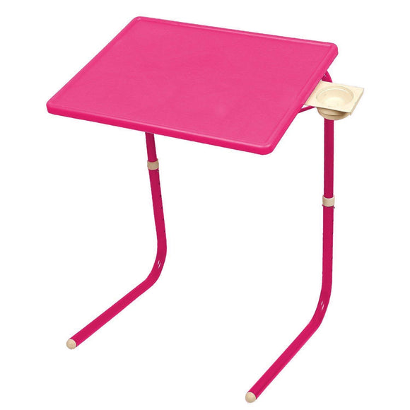 Graphitos Multi Purpose Foldable And Adjustable Table Mate With Cup Holder - PINK