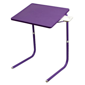 Graphitos Multi Purpose Foldable And Adjustable Table Mate With Cup Holder-PURPLE