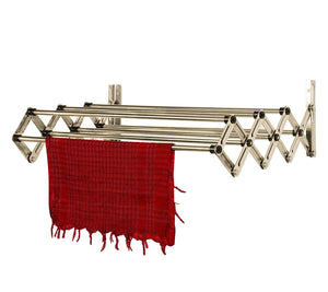 Graphitos Stainless Steel Expandable and Collapsible Cloths Hanger | Wall Mounted Cloth Dryer Stand 5 Lines