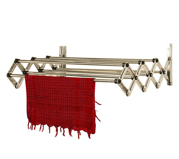 Graphitos Stainless Steel Expandable and Collapsible Cloths Hanger | Wall Mounted Cloth Dryer Stand 7 Lines