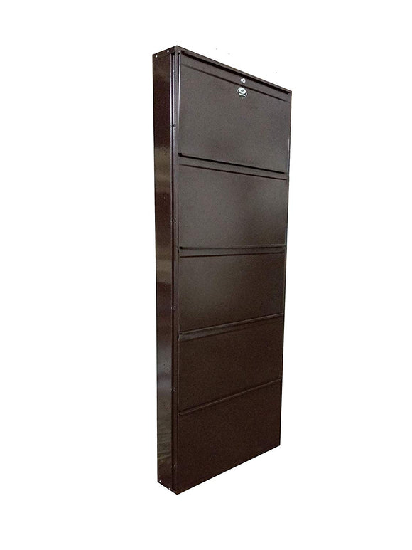 Graphitos Coffee Color Shoe Den With Bigger In Size/ Shoe Rack With 5 Shelves/ 5 Layer Regular