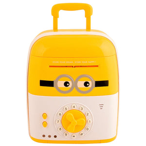 Graphitos ATM for Kids Piggy Savings Bank with Electronic Lock with Music and Automatic Door Open, Battery Operated