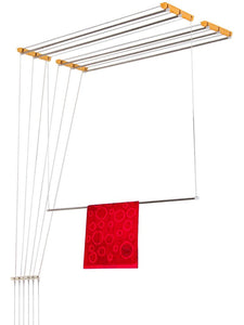 Graphitos Luxury Ceiling Cloth Drying Hanger with One by One Drop Down Rods (6 Lines) (8 Feet)