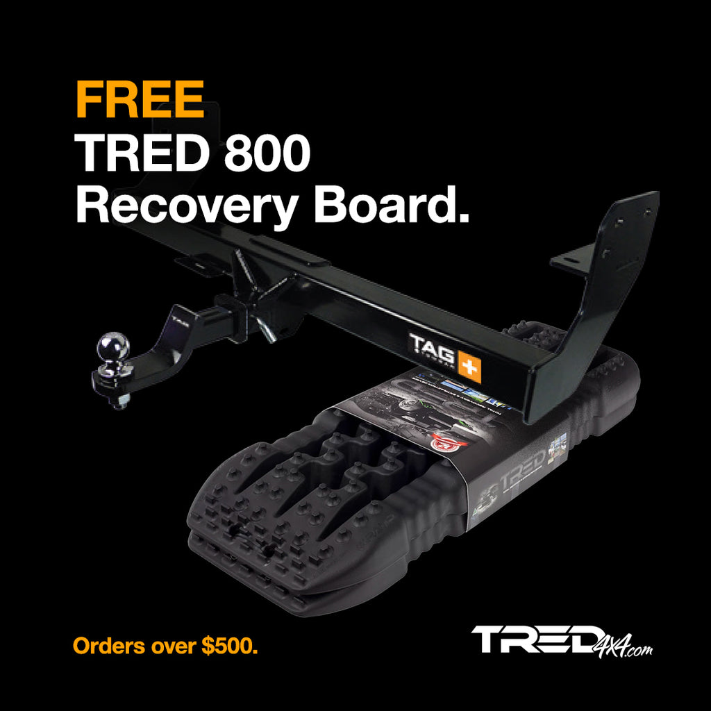 Free TRED 800 on orders over $500.