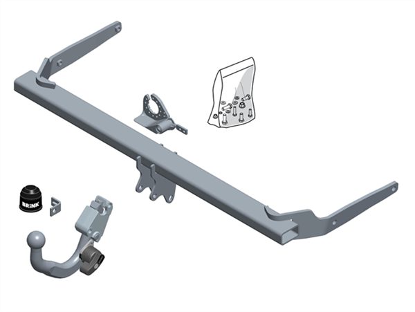 Brink Towbar to suit Volkswagen Passat (11/2014 - on), Skoda Superb (03/2015 - on)