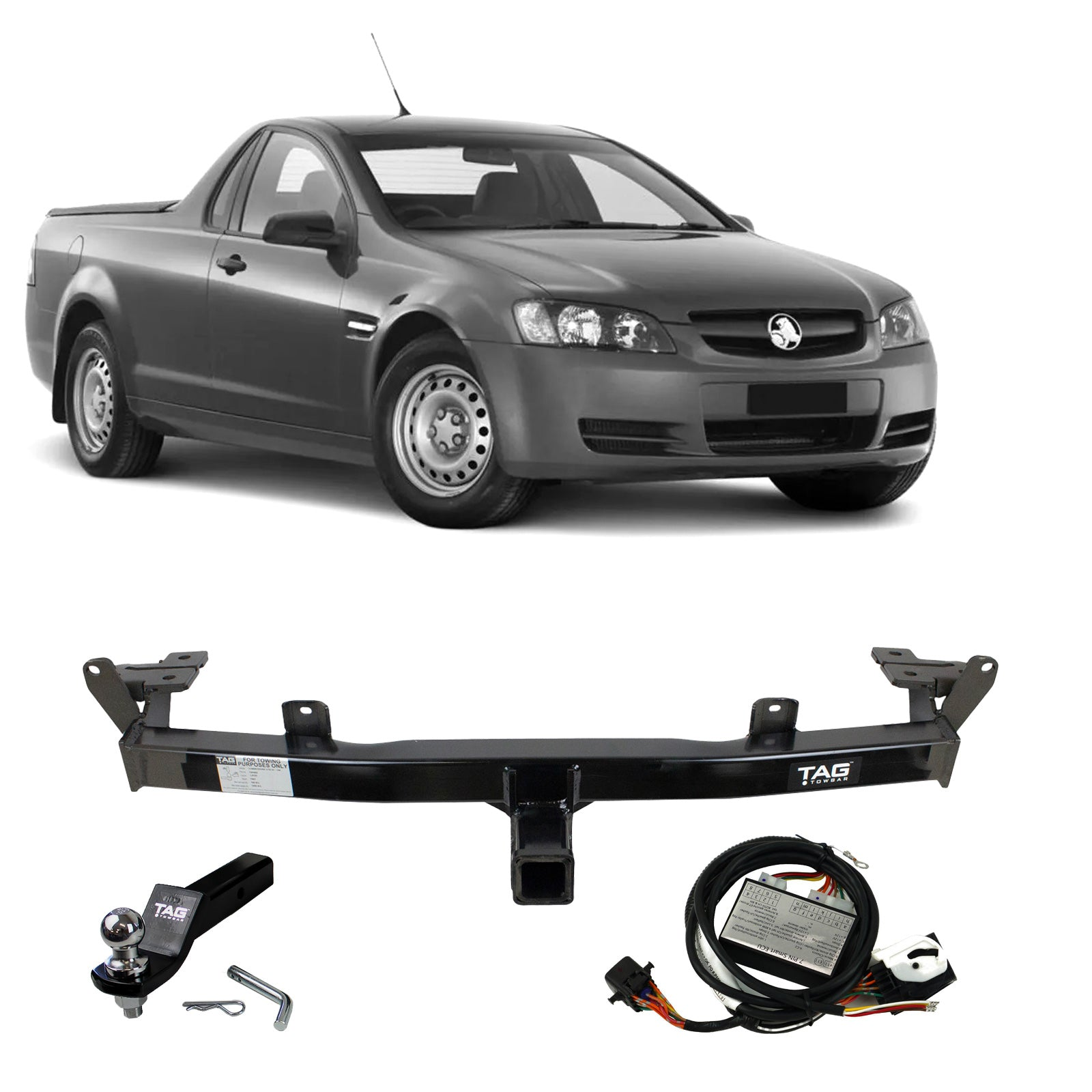 TAG Heavy Duty Towbar to suit Holden Commodore (01/2007 - 01/2013), HSV Maloo (10/2007 - 2013) - No Wiring Harness