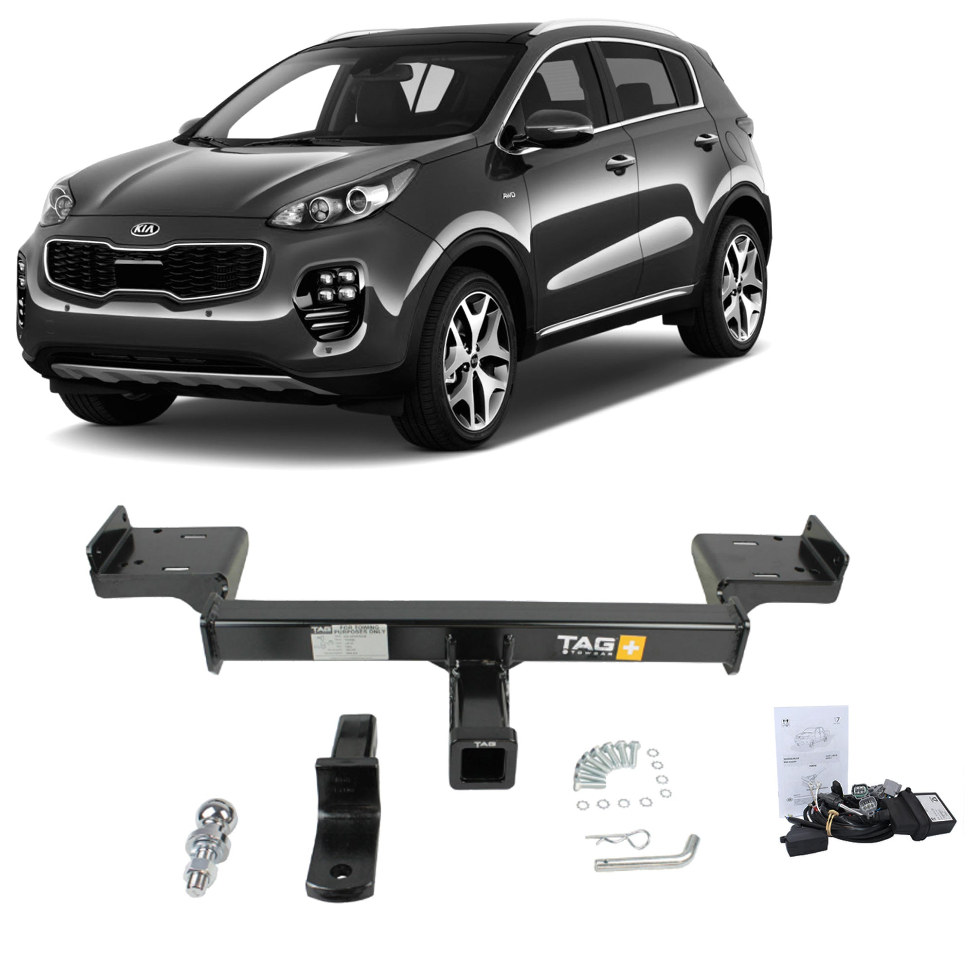 TAG Heavy Duty Towbar to suit KIA Sportage (01/2019 - on) - No Wiring Harness