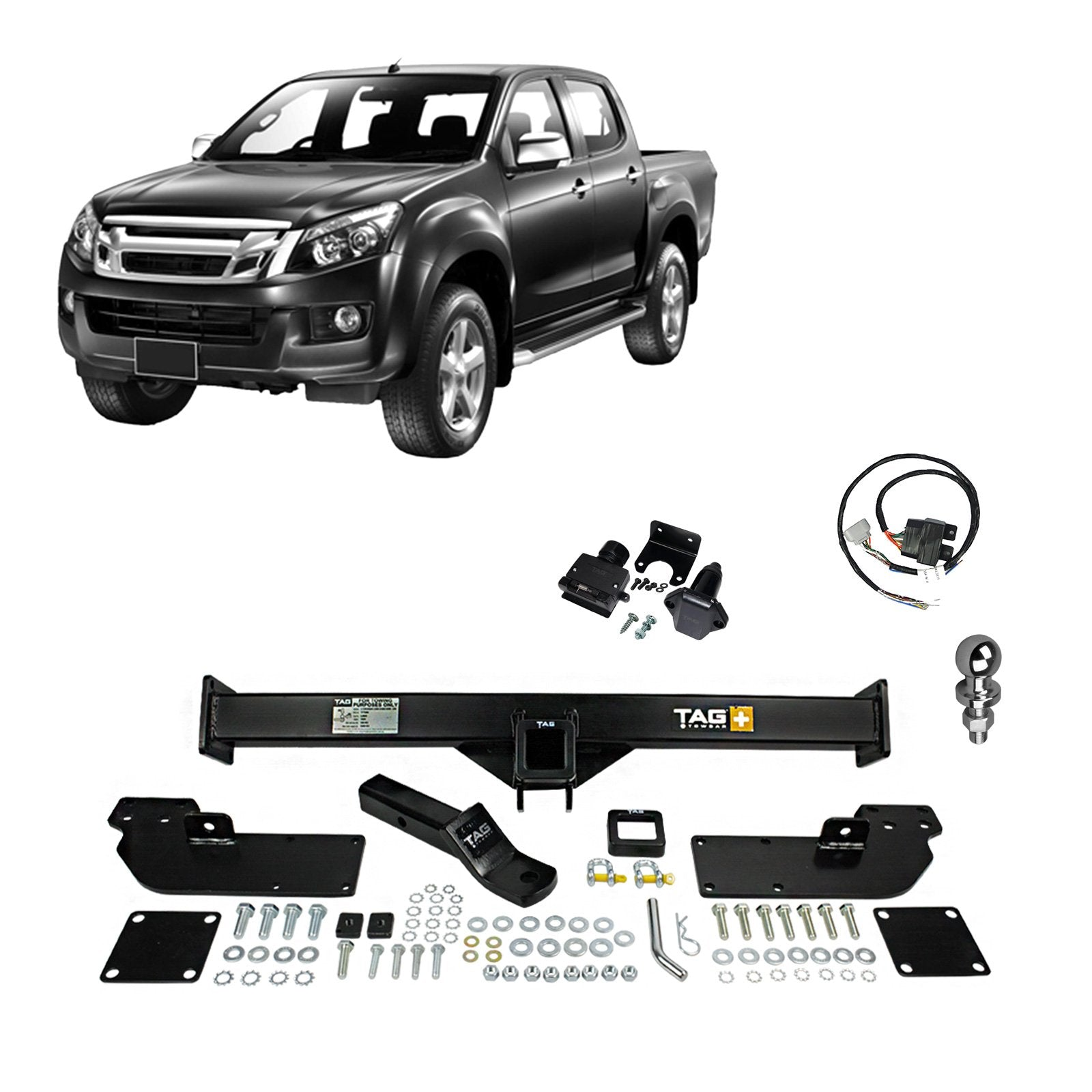 TAG Heavy Duty Towbar to suit Isuzu D-MAX (06/2012 - on) - No Wiring Harness