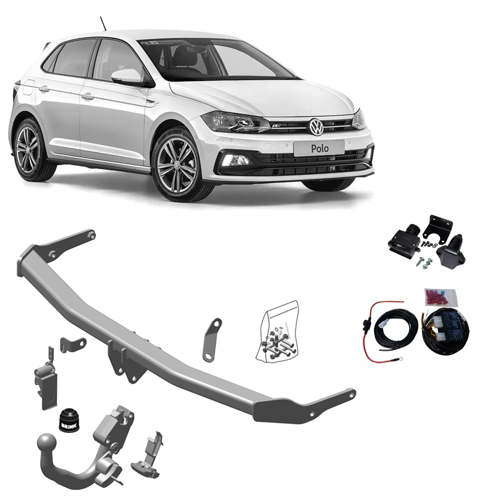 Brink Towbar to suit Seat Ibiza (01/2017 - on), Volkswagen Polo (09/2017 - on)