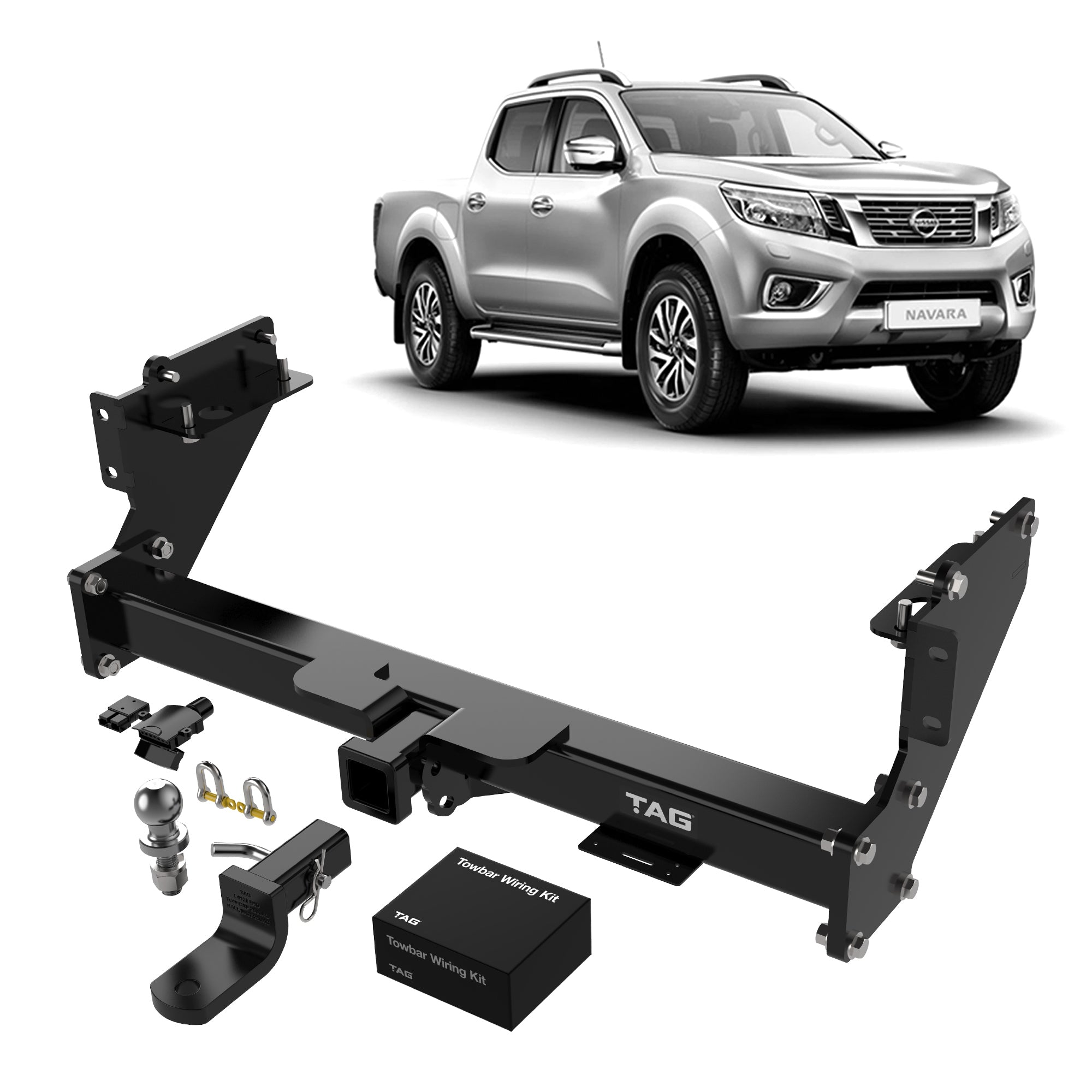 TAG Heavy Duty Towbar to suit Nissan Navara (01/2014 - on) - Direct Fit CAN-Bus Wiring Harness
