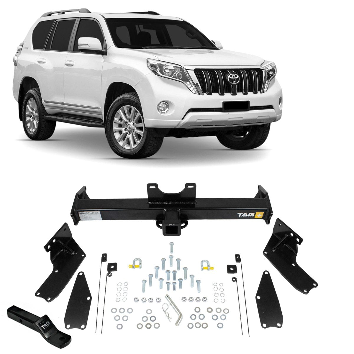 TAG Heavy Duty Towbar to suit Toyota Prado (09/2002 - on)