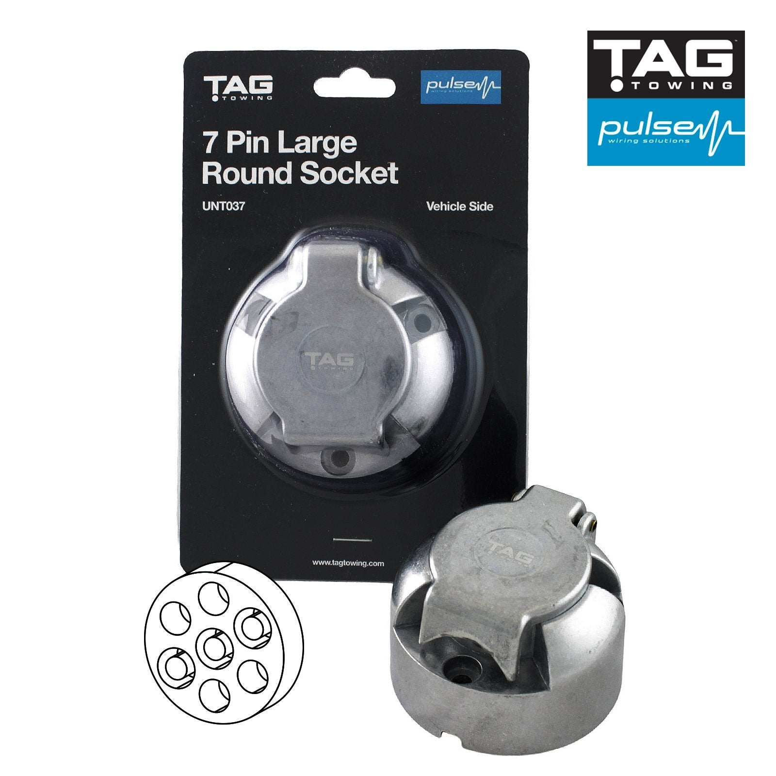TAG Pulse 7 Pin Large Round Socket