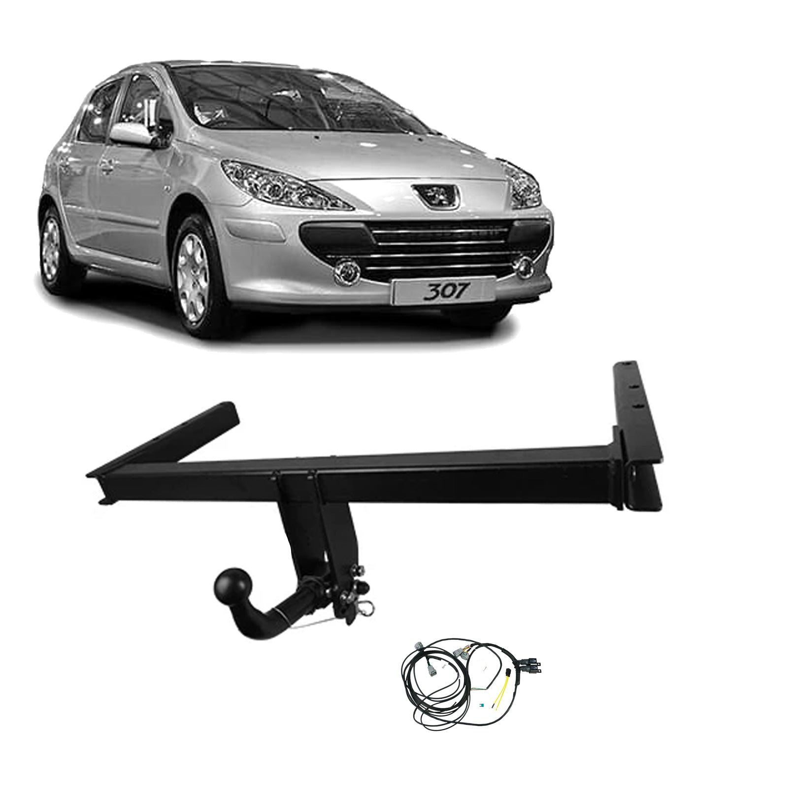 TAG Towbars European Style Tongue to suit Peugeot 307 (08/2000 - 06/2008), 308 (09/2007 - 07/2011)