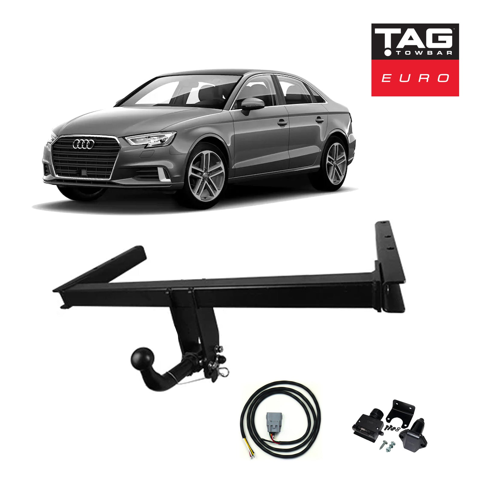 TAG Towbars European Style Tongue to suit Audi A3 (05/2003 - 09/2008)