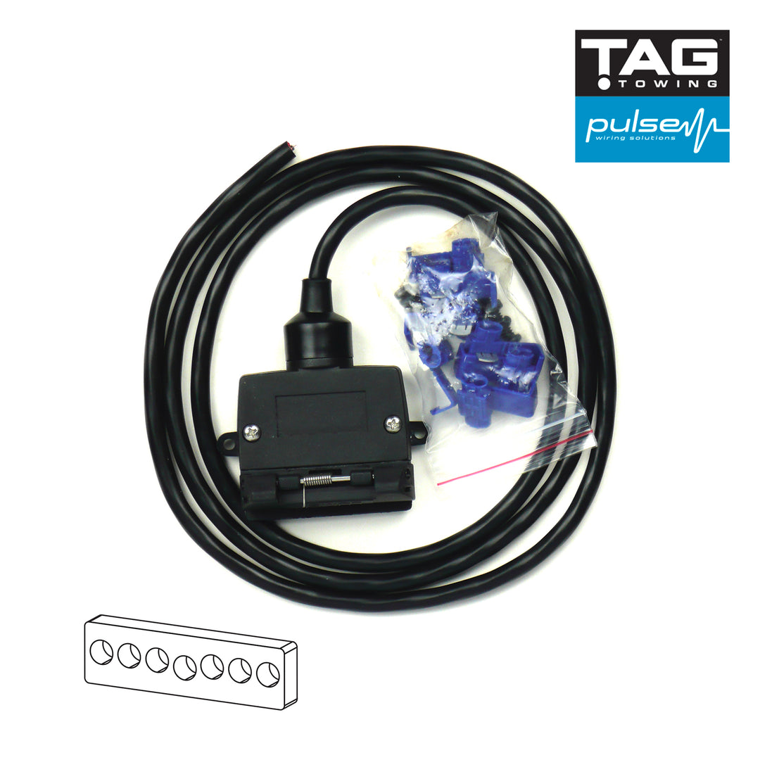 TAG Pulse Complete 7 Pin Flat Socket Wiring Kit