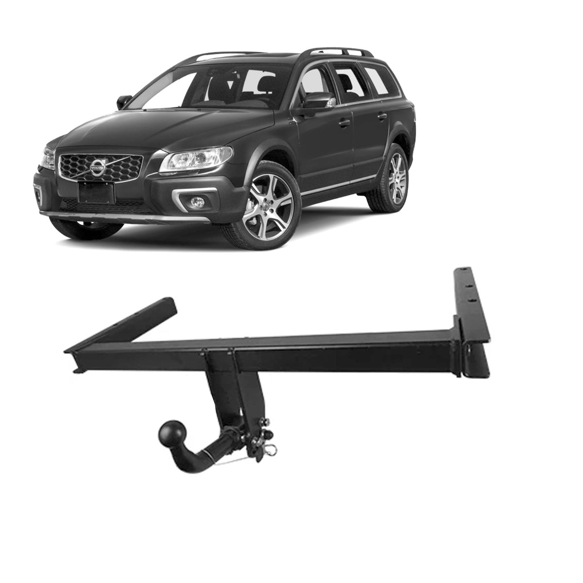 TAG Euro Towbar with European Style Tongue to suit Volvo Xc70 (08/2007 - on)