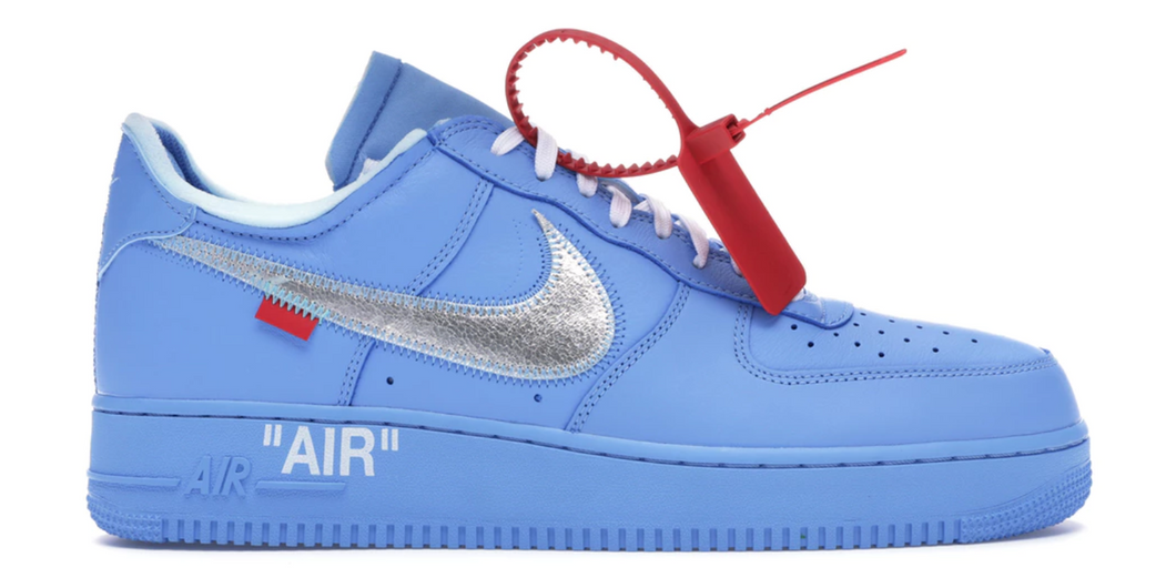 off white nike air force 1 blue