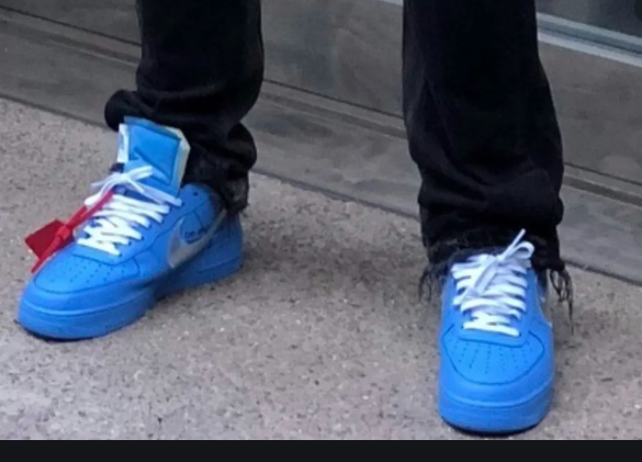 off white air force one blue release date