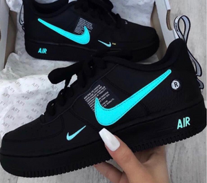 Nike Air Force 1 Low '07 Lv8 Utility Black Laser Blue