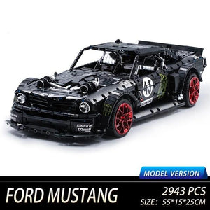 Toys Building Blocks Ford Mustang City Racing Car Model