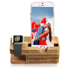 Load image into Gallery viewer, Bamboo Wood Charger Apple Watch