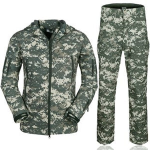 Tactical Camouflage Outdoors Jacket Men Army Waterproof