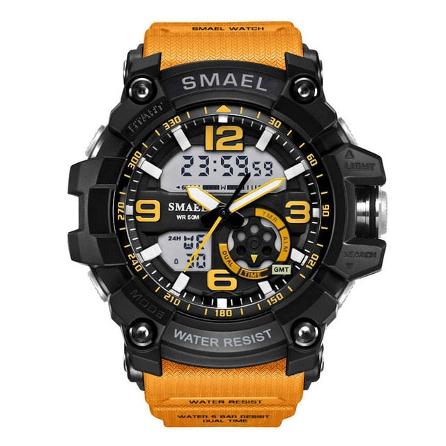 Mens watches Sport LED Digital Waterproof Dual Time
