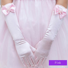 Load image into Gallery viewer, Gloves For Long  Lace Princess Children