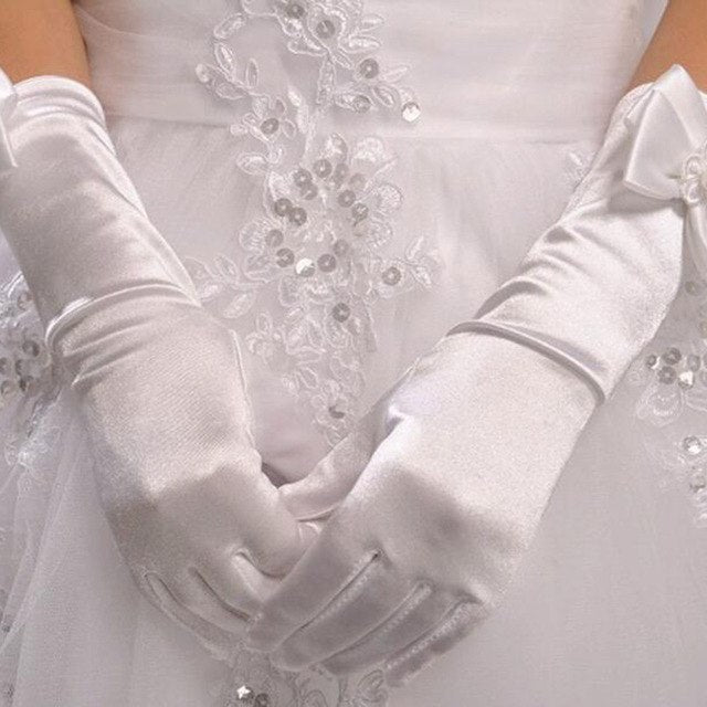 Gloves For Long  Lace Princess Children