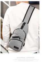Load image into Gallery viewer, Mens Shoulder Bags USB
