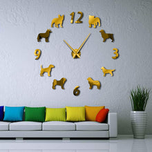 Load image into Gallery viewer, DIY Dachshund Design Dog  Large Wall Clock