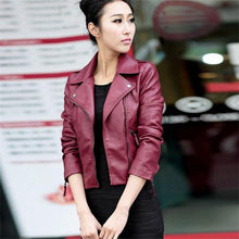 Load image into Gallery viewer, Jacket Women Motorcycle Fashion