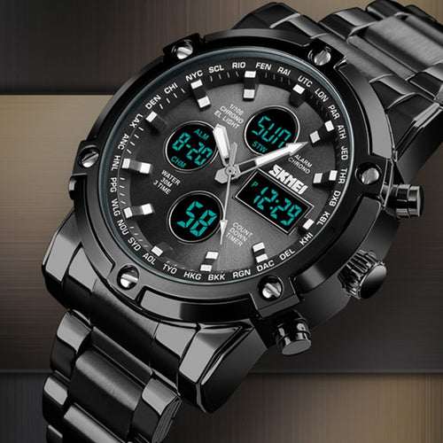 Mens watches Sport Led Full Analog Digital Military