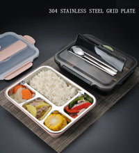 Load image into Gallery viewer, Stainless Steel Lunchbox Office School Kids