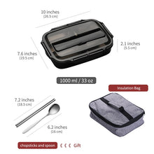 Load image into Gallery viewer, Stainless Steel Kid Adult Bento Boxs