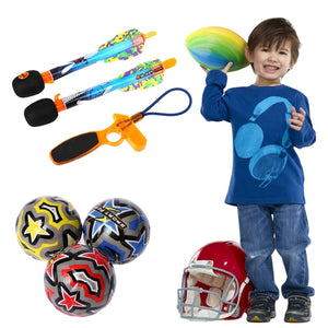 Kids Boys Rugby Flying Arrow Rocket Spongy Ball