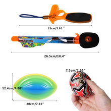 Load image into Gallery viewer, Kids Boys Rugby Flying Arrow Rocket Spongy Ball