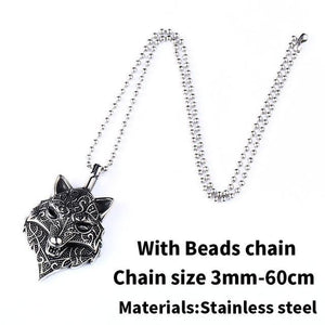 Jewelry necklace Viking Wolf