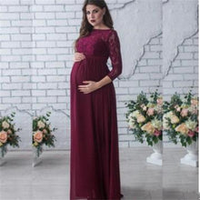 Load image into Gallery viewer, Maternity Women Wedding Dress Red
