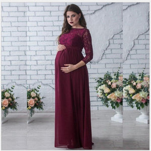 Maternity Women Wedding Dress Red