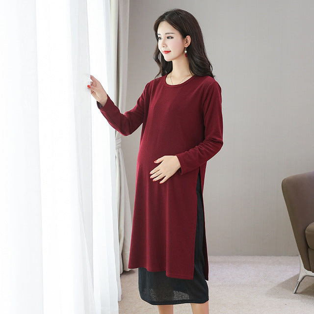 Clothes Women Dress Breastfeeding  Autumn and Winter