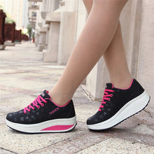 Load image into Gallery viewer, Sneakers Woman Sports Shoes Black