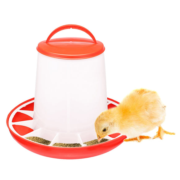 Automatic Chicken Feeder Water Drinker 1.5/3/6kg Farm Poultry Dish Dispenser Bucket Pet Pheasant Feeding Tools Accessories