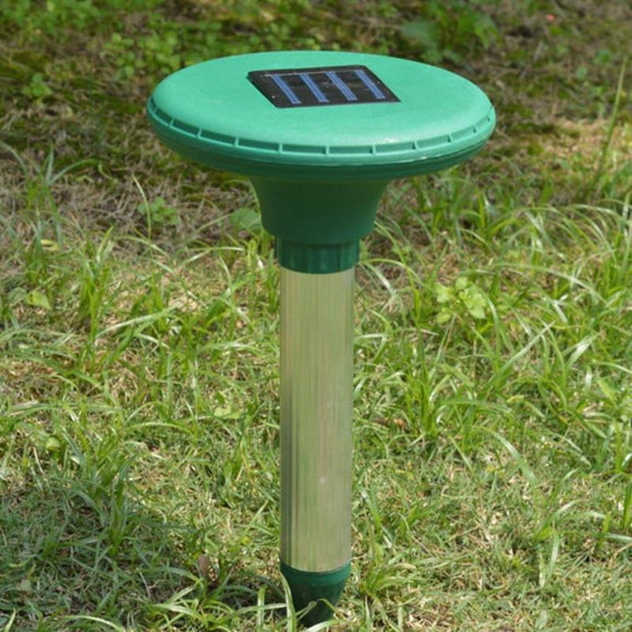 2PCS Solar Ultrasonic Pest Repellent Gopher Mole Snake Rat Repellent Garden Farm Pest Repeller Solar Powered