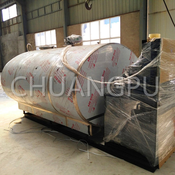 5000Liter Stainless Steel Milk Chilling Tank for Food Products Factory, 5T High-Performance and Low Noise Milk Cooling Tank