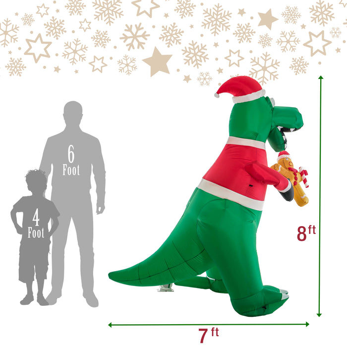 T Rex Christmas Lawn Decoration  from cdn.shopify.com