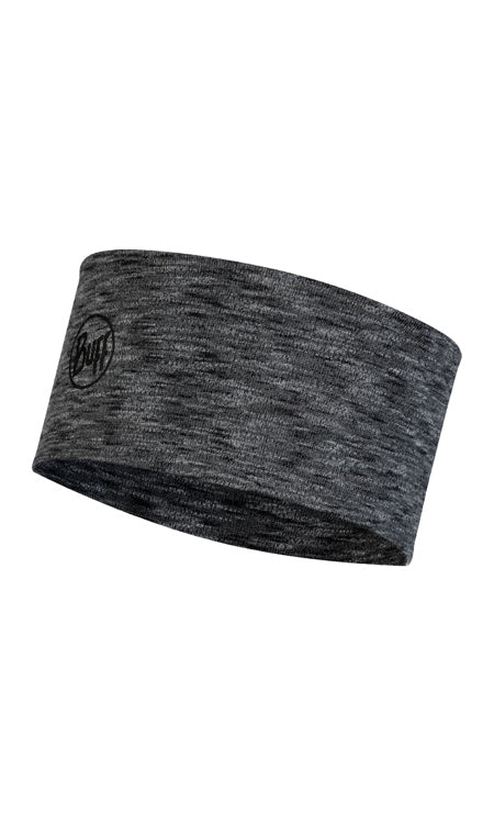 2L MIDWEIGHT MERINO WOOL HEADBAND GRAPHITE MULTI STRIPES