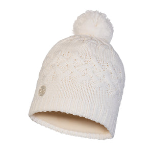 KNITTED & POLAR HAT SAVVA WHITE