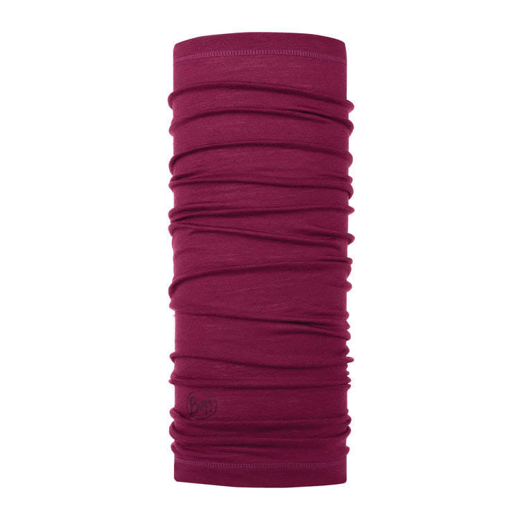 LIGHTWEIGHT MERINO WOOL SOLID RASPBERRY
